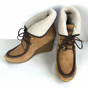 Tommy Hilfiger women Zaria tan suede leather boot